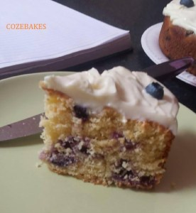 lemon blueberry, madeira cake, lemon madeira, lemon blueberry madeira, cream cheese, cream cheese frosting, cozebakes