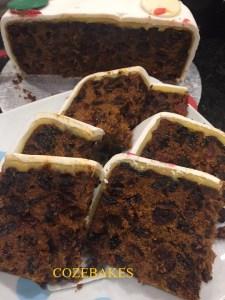 christmas cake, celebration cake, fruit cake, gluten free fruit cake, cozebakes