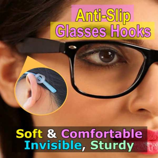 2 Pair Anti Slip Silicone Glasses Ear Hooks For Kids And Adults Round Grips Eyeglasses Sports