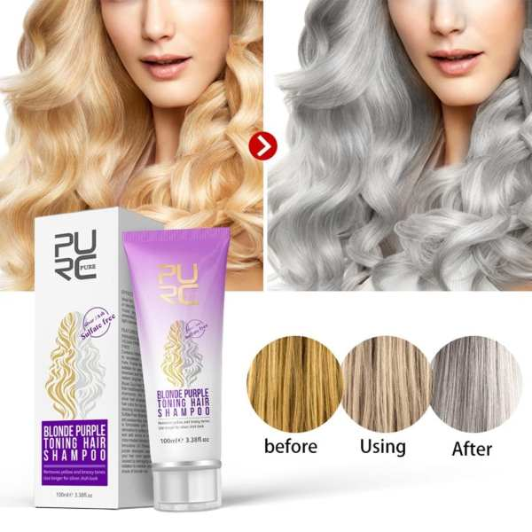 Faded Bleaching Shampoo Gold Hair Shampoo Care Cream Removes Silver Grey Appearance Yellow And Rough Tone