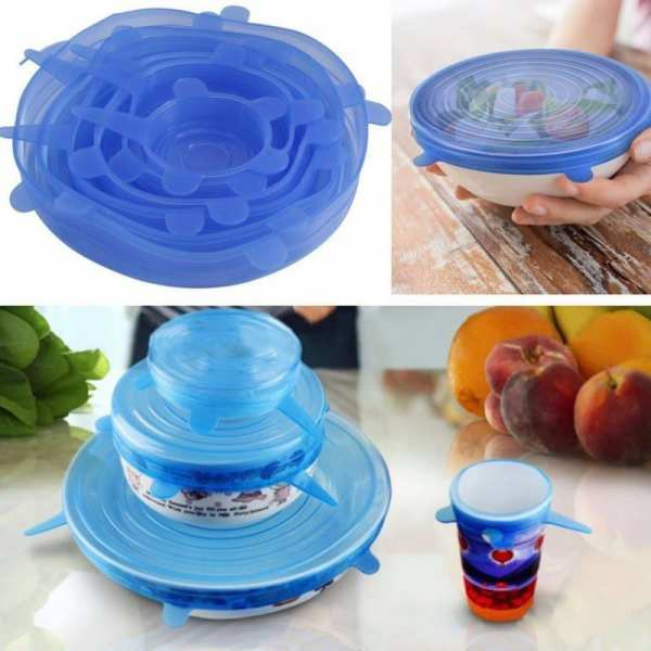 6Pcs Stretchable Food Silicone Lid