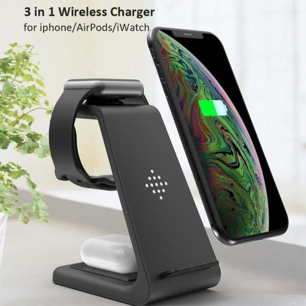 3 in 1 Wireless Charger 10W Fast Charging for iPhone 11 pro XR Xs Max 8