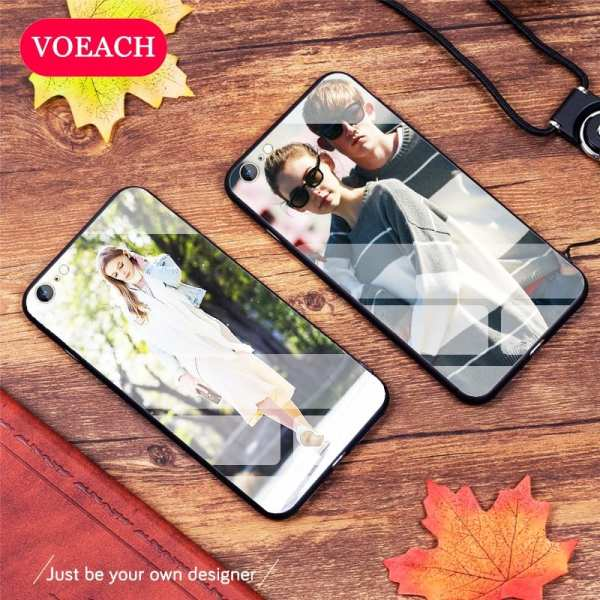 Custom Personalized Phone Case Tempered Glass For iPhone 6 7 8Plus X 11 Pro XS MAX