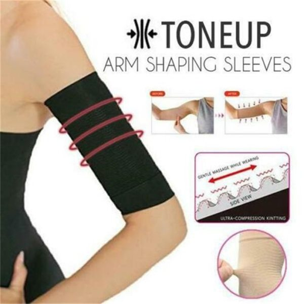 1Pair Slimming Compression Arm Shaper Slimming Arm Belt Helps Tone Shape Upper Arms Sleeve Shape Taping