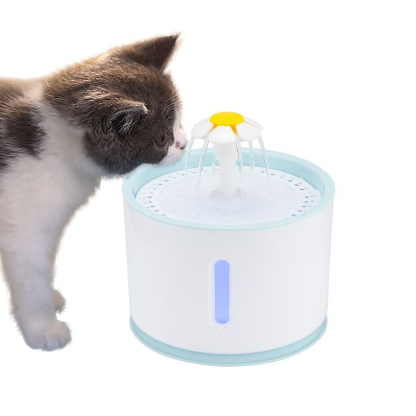 2 4L Automatic Pet Cat Water Fountain with LED Electric USB Dog Cat Pet Mute Drinker