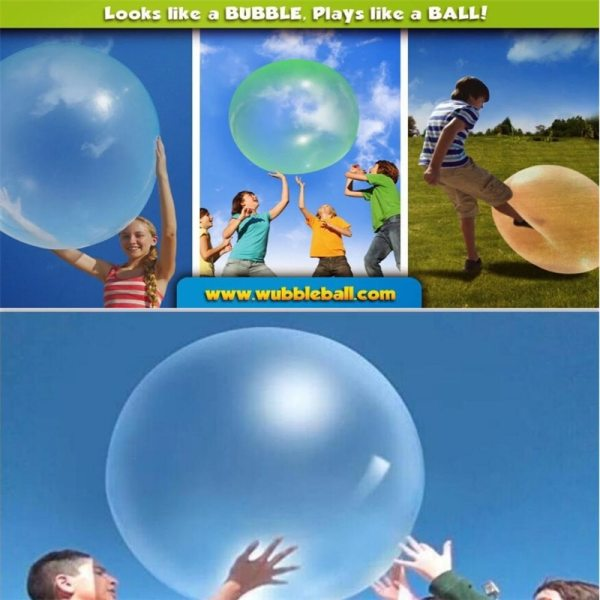 Hot Selling Transparent Bubble Ball Creative Children s Big Light Ball Toy Baby Bath Birthday Party