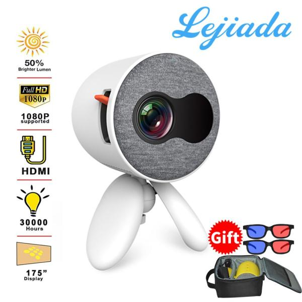 LEJIADA YG220 mini projector supports mobile phone with the same screen 1080P HD HDMI USB projector