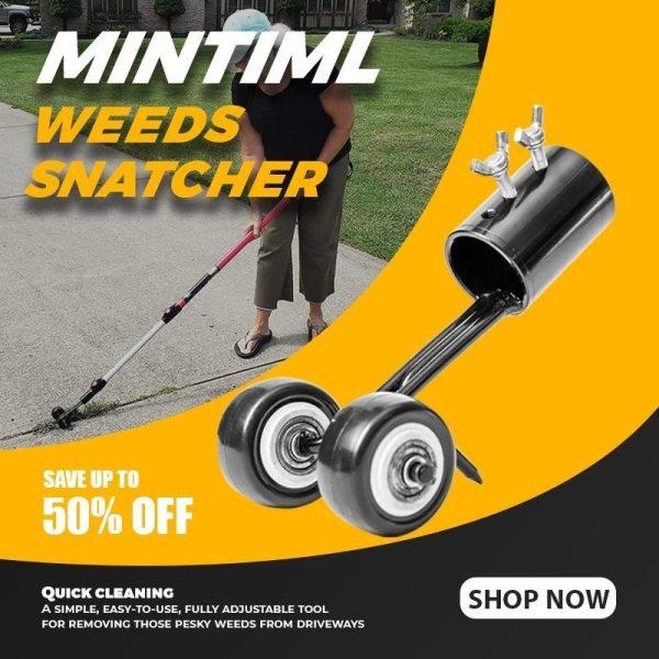 Mintiml Weeds Snatcher Lawn Mower Weeding Head Steel Garden Weed Razors Lawn Mower Garden Grass Trimming