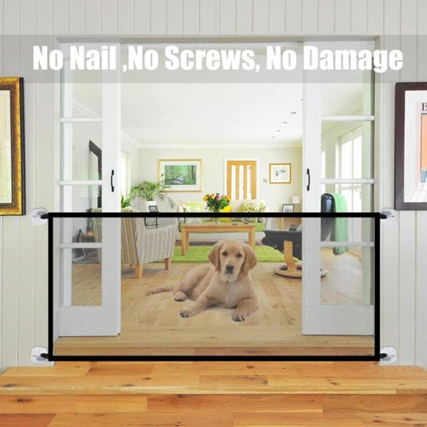 New Pet Barrier Fences Portable Folding Breathable Mesh Dog Gate Pet Separation Guard Isolated Fence Dogs