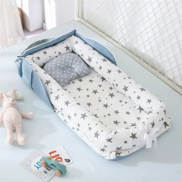 Portable Baby Nest Bed for Boys Girls Travel Bed Infant Cotton Cradle Crib Baby Bassinet Newborn