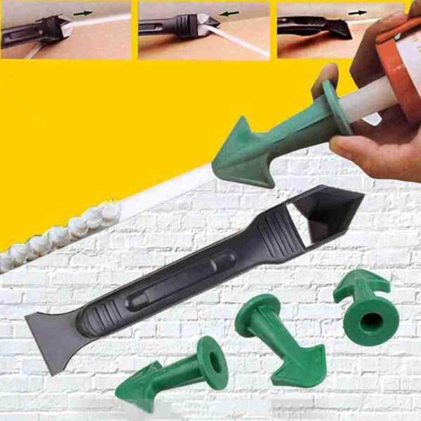 Silicone Remover Caulk Finisher Sealant Smooth Scraper Grout Kit Tools Glue Nozzle Cleaning Tile Dirt Tool