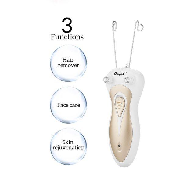 Women Electric Epilator Body Facial Hair Removal Defeatherer Cotton Thread Depilator Lady Shaver Face Hair Remover