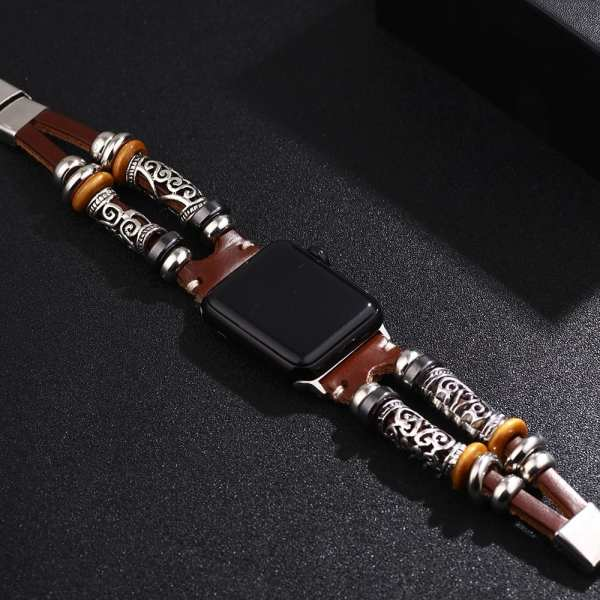 ZG Ethnic Style Bracelet Alloy Accessories Stainless Steel Buckle Passionate Multi color Leather Strap