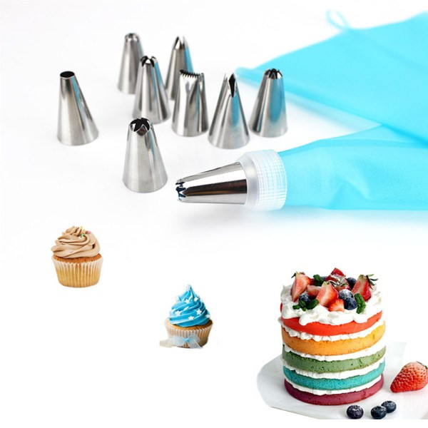 26 PCS Set Silicone Pastry Bag Tips Kitchen DIY Icing Piping Cream Reusable Pastry Bags 24