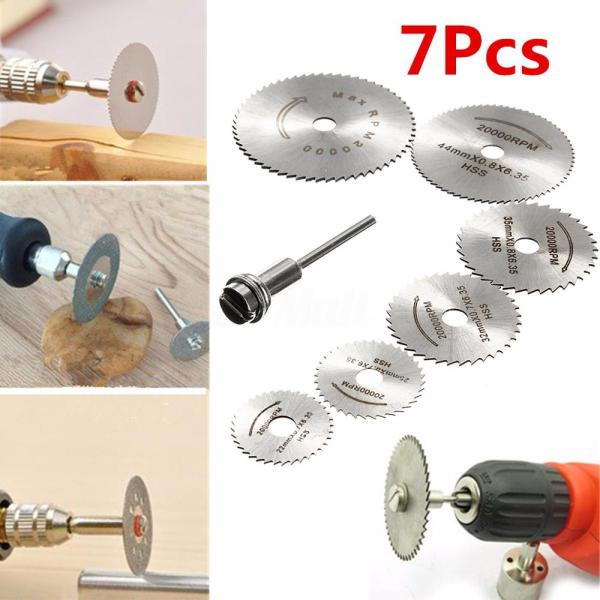 7pcs HSS Circular Saw Blade Rotary Tool For Dremel Metal Cutter Power Tool Set Wood Cutting