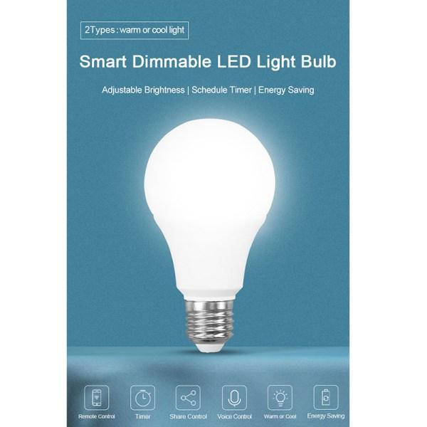 LED Lamp WiFi LED Light Bulb E27 9W Remote Control Lamp WiFi Bulb Durable Adjustable Bright
