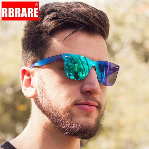 RBRARE 2019 Siamese Sunglasses Men Rice Nails Ladies Sunglasses Luxury Colorful Retro Sun Glasses Pink Mirror