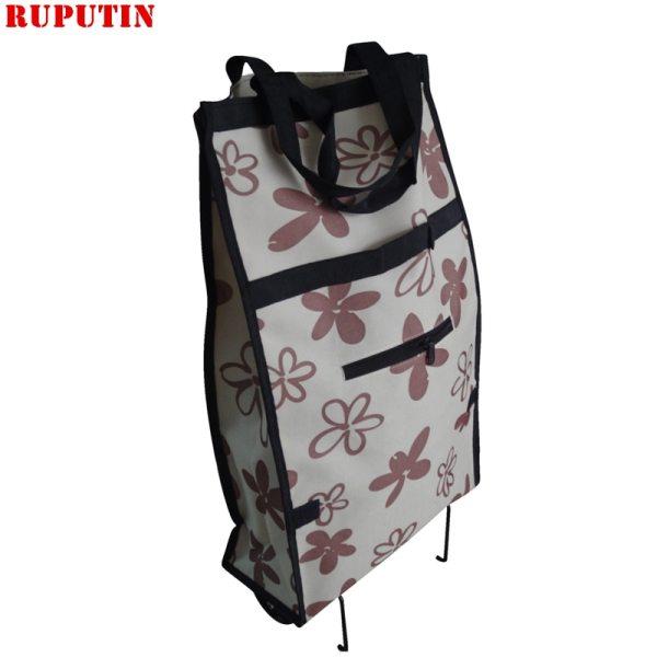 Small Pull Cart Shopping Food Organizer Trolley Bag On Wheels Bags Folding Portable Shopping Bags Buy