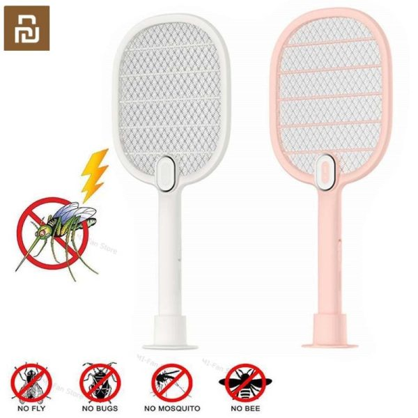 Youpin 3 Layers Mesh Electric Mosquito Swatter Electric Handheld Mosquito Killer Insect Fly Bug Mosquito Swatter