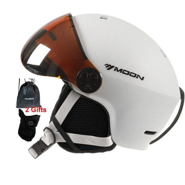MOON Skiing Helmet Goggles Integrally Molded PC EPS High Quality Ski Helmet Outdoor Sports Ski Snowboard