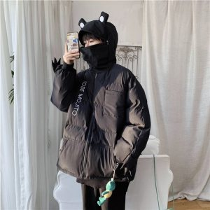 Kawaii Frog Parkas Men 2020 Winter Oversized Harajuku Pullover Casual Hooded Jackets Hip Hop Unisex Warm 3.jpg 640x640 3