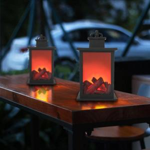 LED Flame Lantern Lamps Simulated Fireplace LED Flame Lamps Flame Effect Light Bulb AA Battery Courtyard 1