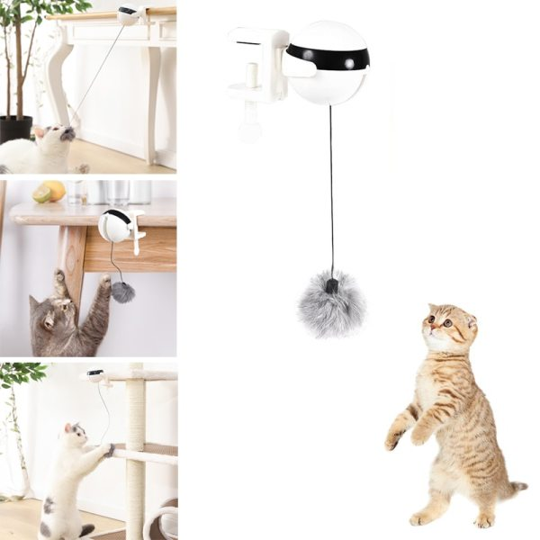 Electronic Motion Cat Toy Cat Teaser Toy Yo Yo Lifting Ball Electric Flutter Rotating Interactive Puzzle