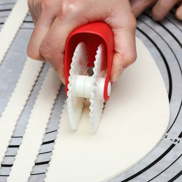 Pastry Cutter Ensure Smooth Cutting Plastic Rust Proof Noodle Knife Pizza Pie Tools Rolling Wheel Decorator