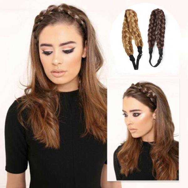 Synthetic Wig Twist Hair Bands Fashion Wedding Bride Elastic Stretch Plait Lady Braids Women Accessories Hair
