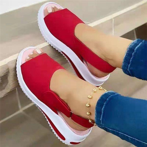 2021 New Women Sandals Soft Stitching Ladies Sandals Comfortable Flat Sandals Women Open Toe Beach Shoes