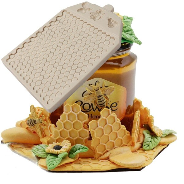 Large Honeycomb Fondant Mold DIY Bee Chocolate Cake Candy Baking Mould Handmade Soap Silicone Molds Cake