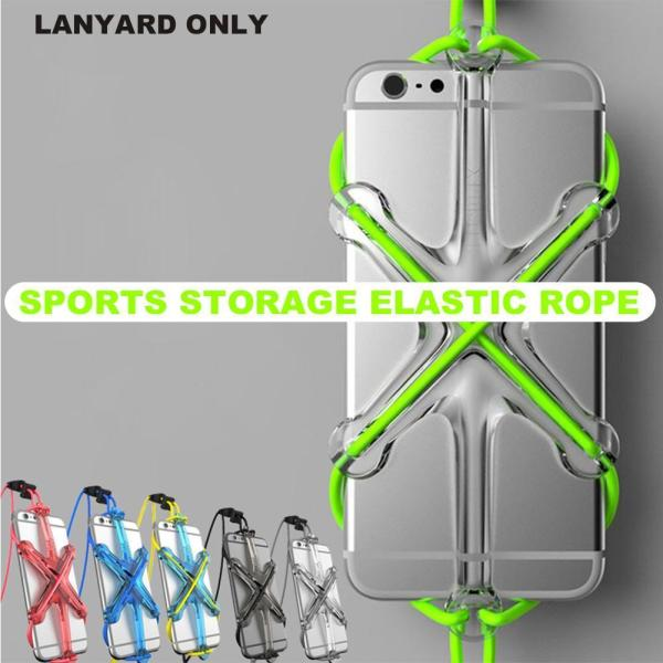 Mobile Phone Lanyard Cell Phone Case Safety Lanyard Sport Elastic Strap Universal 4 7inch Elastic Silicone
