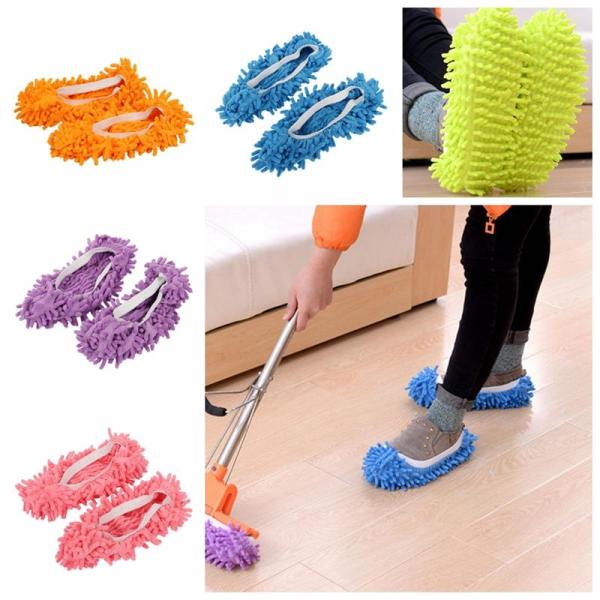 Mop Slippers House Cleaning Dust Removal Lazy Floor Wall Dust Removal Cleaning Feet Shoe Covers Washable