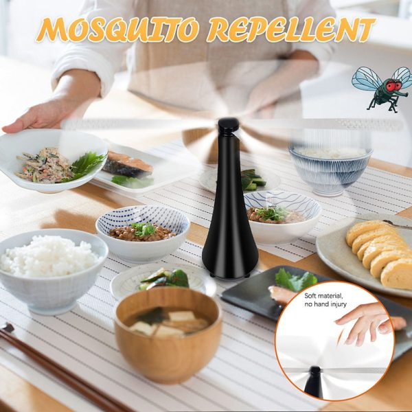 Portable Mini Desk Fan Automatic Electronic Pest Control Fan Blade Mosquito Fly Bug Repellent Fan Food