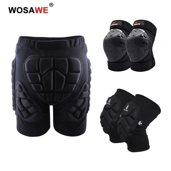 WOSAWE Motorcycle Knee Pads Elbow pads Hip Protection Shorts Impact Padded Protector Ski Snowboard Skating Cycling