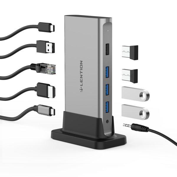 11 in 1 USB C HUB Type C to Multi HDMI RJ45 VGA USB 3 0