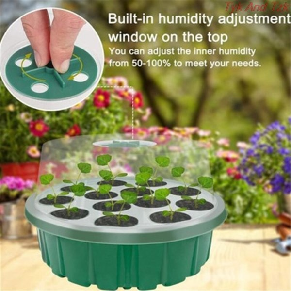 13 Hole Seedling Trays Seed Starter Starter Plant Flower Grow Germination