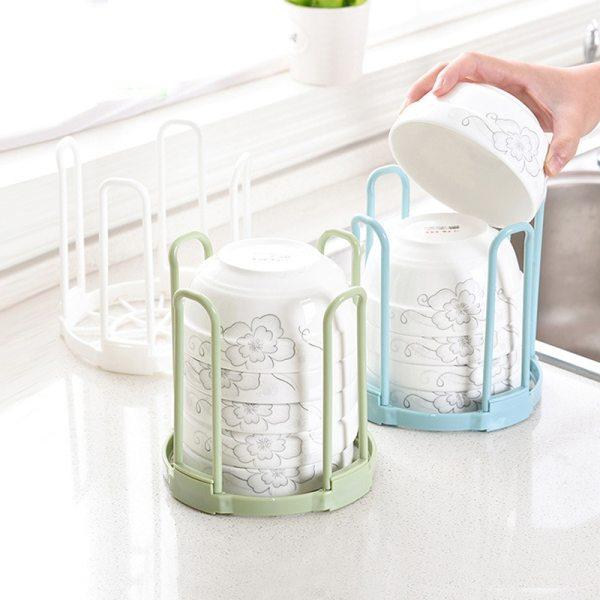 1PC Plastic Kitchen Dish Plate Bowl Cup Book Pot Lid Rack Storage Holder Organizer kitchen organizer