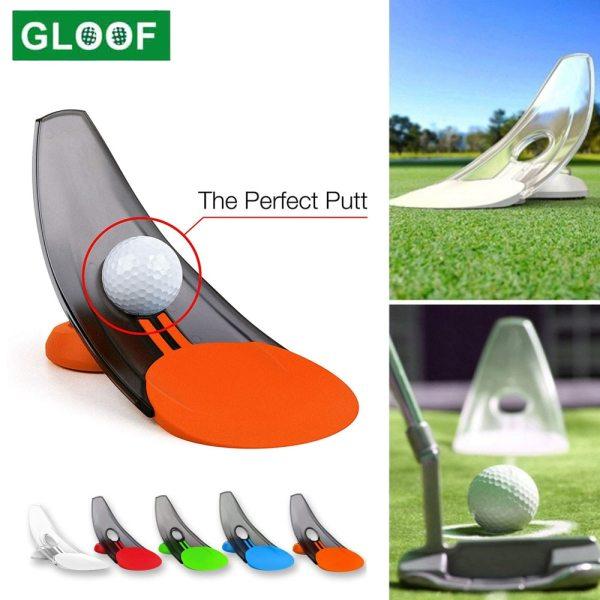 1Pcs Pressure Putting Golf Trainer Aid Office Home Carpet Practice Putt Aim For Golf Pressure Putt