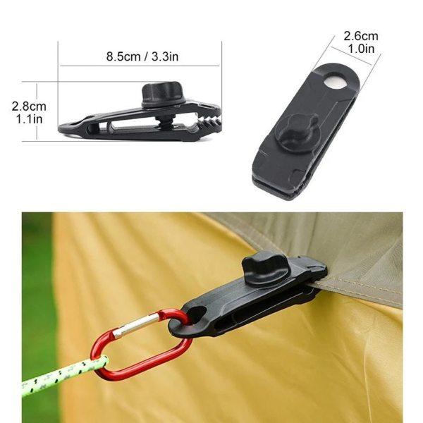 25 5pcs Reusable Linoleum Tent Clips Teeth shaped Tent Tarp Tarpaulin Clip Waterproof Unique Locking Clamp