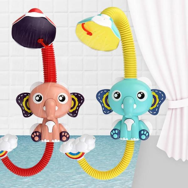 Bath Toys Cute Elephant Shape Children Faucet Shower Electric Water Spray Baby Swimming Bathroom Toys Kid