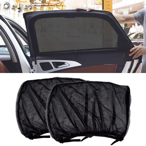 Ceyes 2pcs Car Styling Accessories Sun Shade Auto UV Protect Curtain Side Window Sunshade Mesh Sun