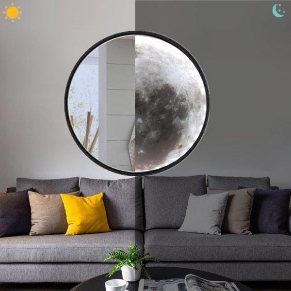Creative Magic Mirror Makeup Mirror With Light Moon Wall Lamp Living Room Entrance Bathroom Decorative Mirror
