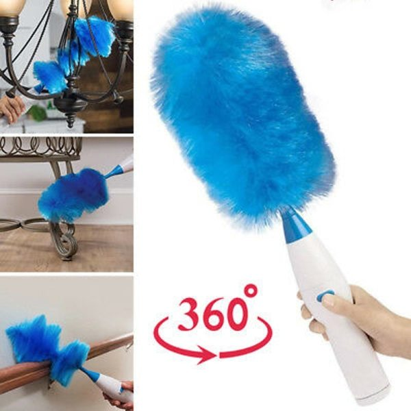 Electric Spin Duster Feather Duster Brush 360 Adjustable Dust Cleaner Cleaning Brush Household Cleaning Tool Instant