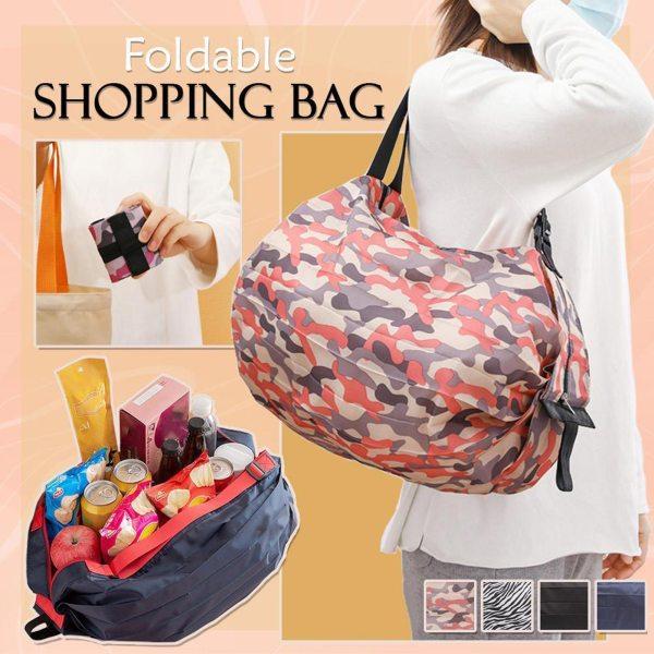 Large Foldable Shopping Bag Supermarket Canvas Large Capacity Portable Storage Bag Waterproof Shounder Bag