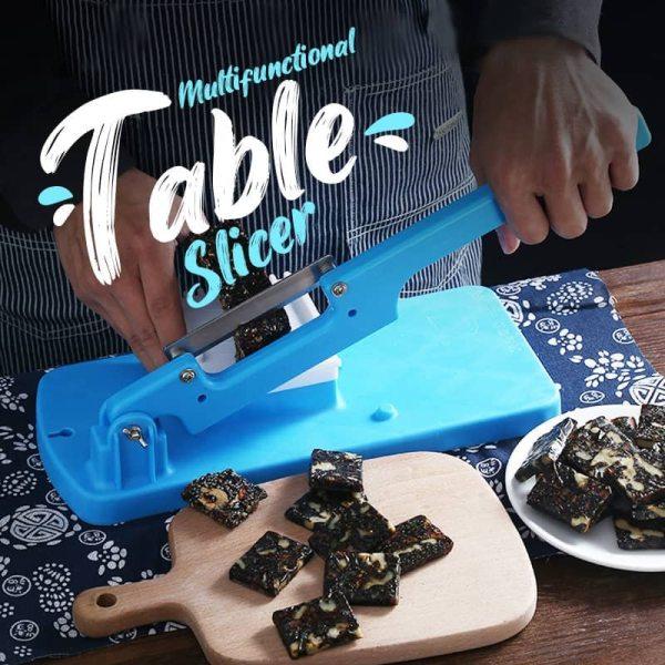 Multifunctional Table Slicer Meat Slicing Machine Slicer Alloy Steel Table Slicer ManualMeat and Vegetables Gadget Kitchen