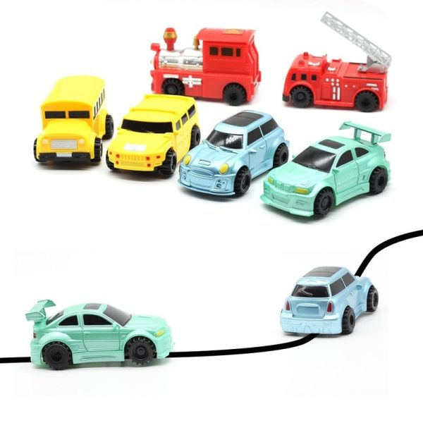 New Engineering Vehicles Magic Pen Inductive Children s Truck Tank Toy Car Draw Lines Induction Rail