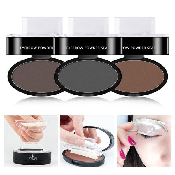 Professional Natural Eyebrow Stamp Waterproof Eyebrow Powder Seal Quick Makeup Eye Brow Cosmetic Beauty Makeup Tool