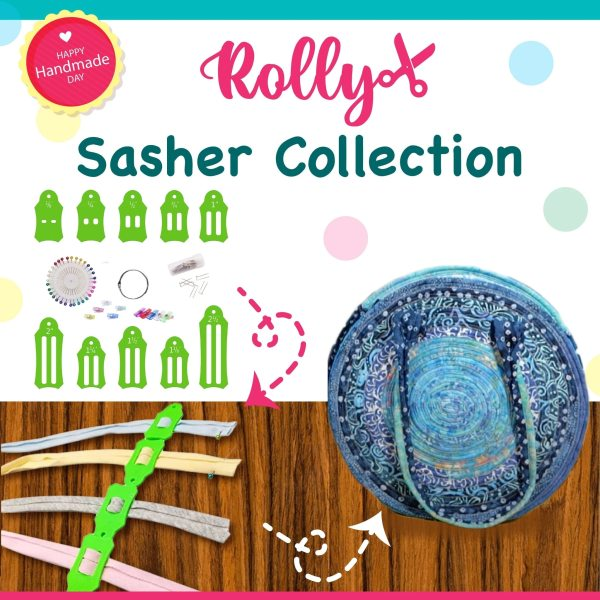 ROLLY Sasher Collection 30 Free Kostenlose Pinning Clips DIY Tool Set for Jelly Roll Rugs Bags
