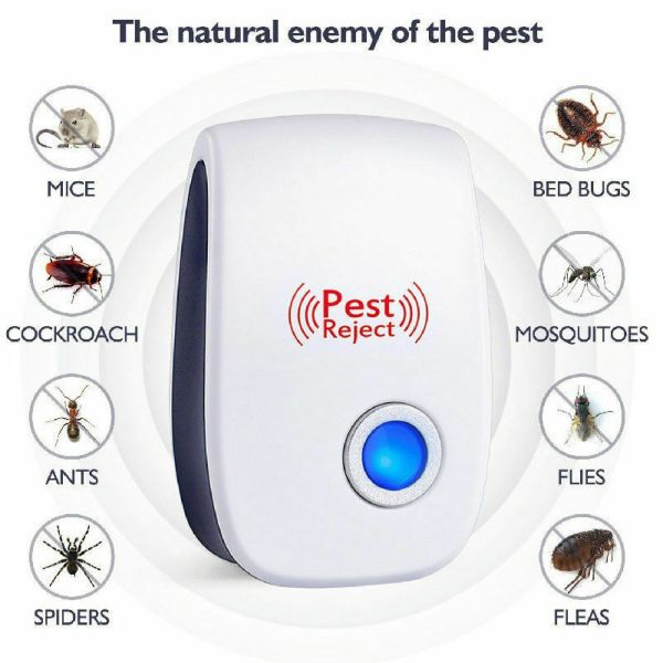 Reject Killer Electric Ultrasonic Pest Repeller Anti Mosquito Rodent Control Bug Cockroach Insect Repellent EU US